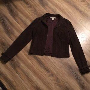 Diane von Furstenberg Brown Leather Jacket